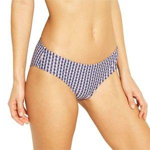 NWT Xhilaration Gingham Bikini Bottom XS Blue